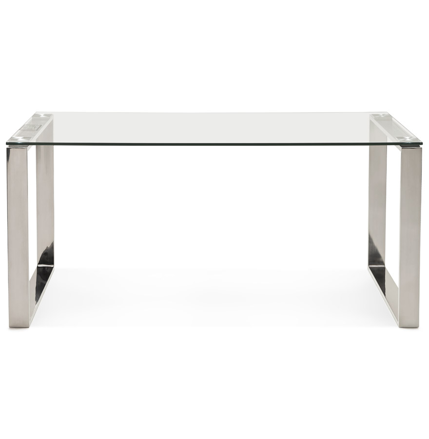 nevada clear h2 02 - Grand bureau droit/table à diner ´NEVADA´ en verre