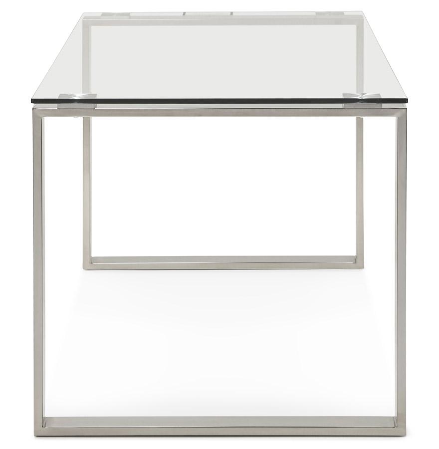 nevada clear h2 03 - Grand bureau droit/table à diner ´NEVADA´ en verre