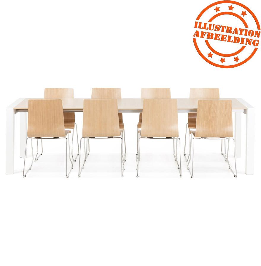 table de salle manger extensible nordik en bois. Black Bedroom Furniture Sets. Home Design Ideas