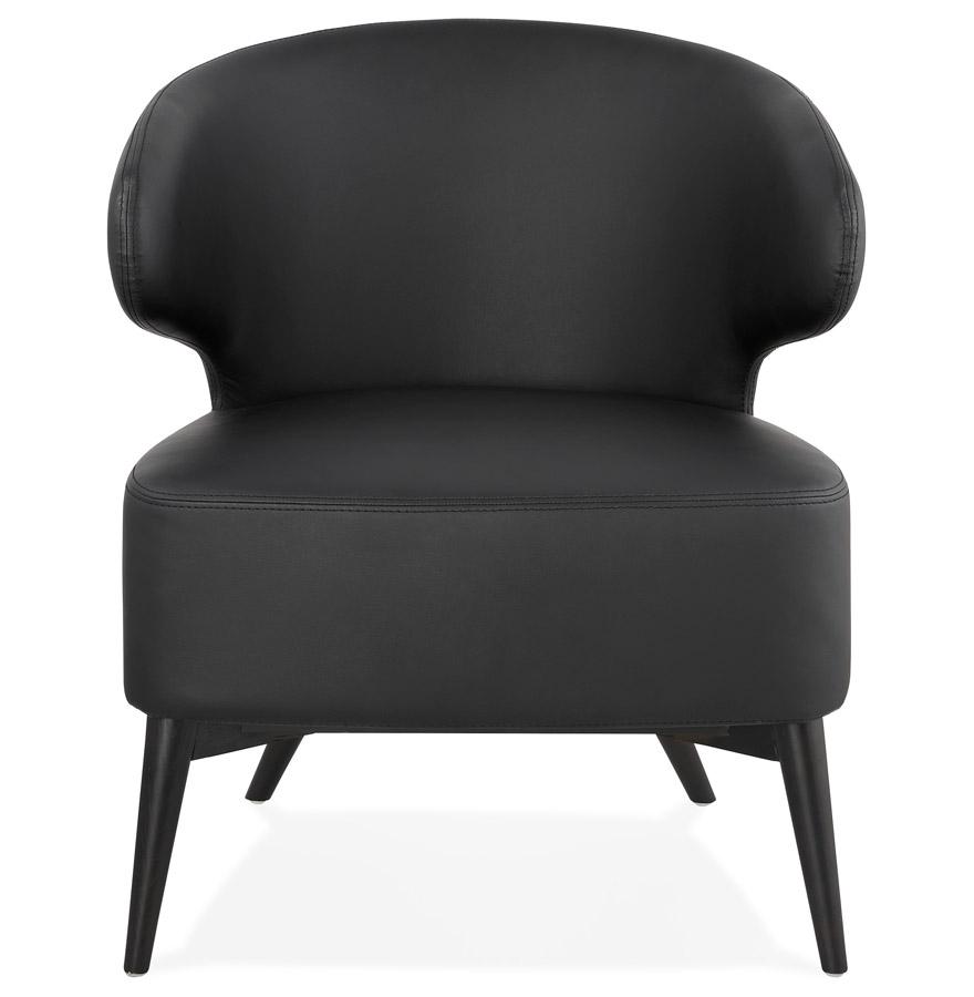 norman fauteuil zwart en zwart houten poten design fauteuil. Black Bedroom Furniture Sets. Home Design Ideas