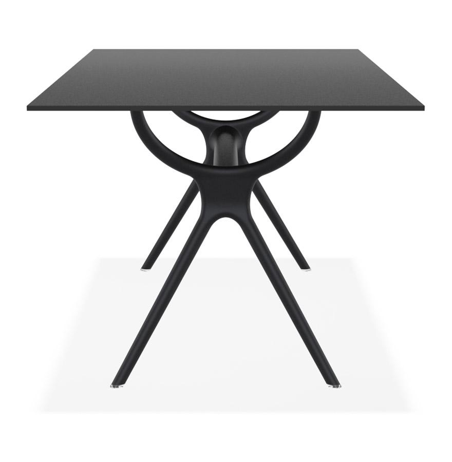 ocean black h2 02 - Table interieur/exterieur ´OCEAN´ design en matière plastique noire - 180x90 cm