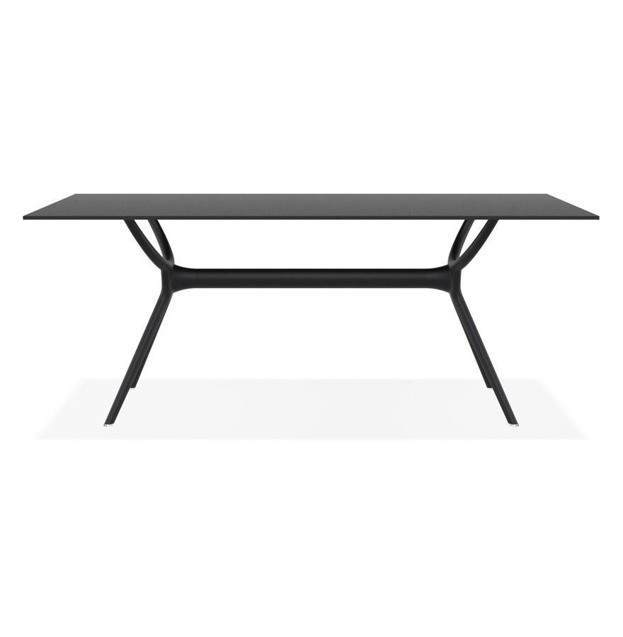 ocean black h2 03 - Table interieur/exterieur ´OCEAN´ design en matière plastique noire - 180x90 cm