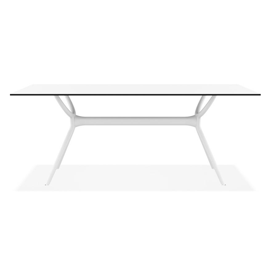 Table interieur/exterieur ´OCEAN´ design en matière plastique blanche - 180x90 cm