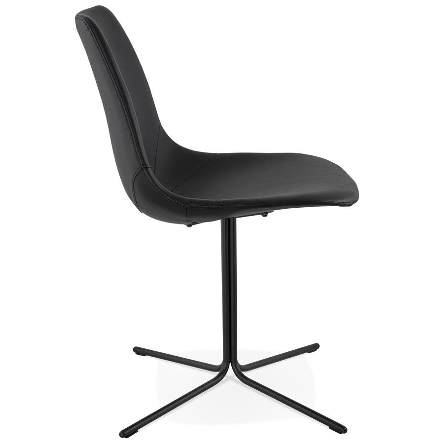 Chaise design ´OLALA´ en matière synthétique et pied en métal noir