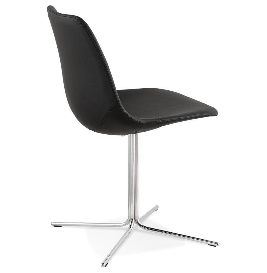 Chaise design olala noire avec pied en m tal - Chaise pied metal ...