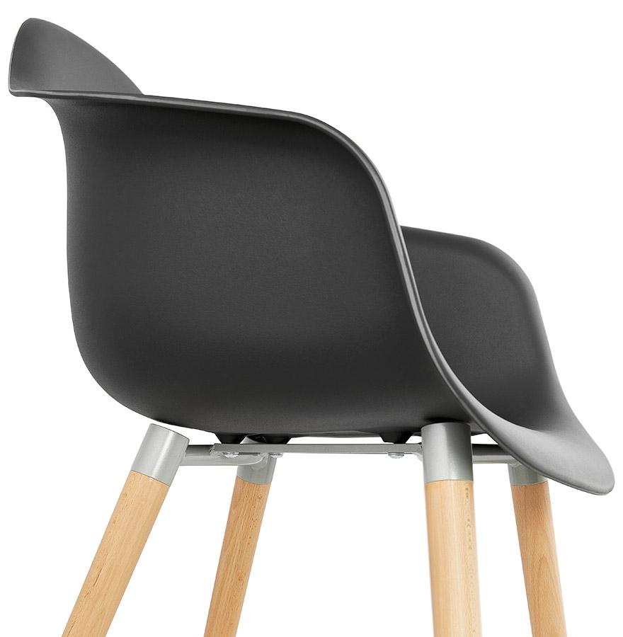 Stoel met armleuningen olivia zwart scandinavische stoel - Stoel met armleuningen senior ...
