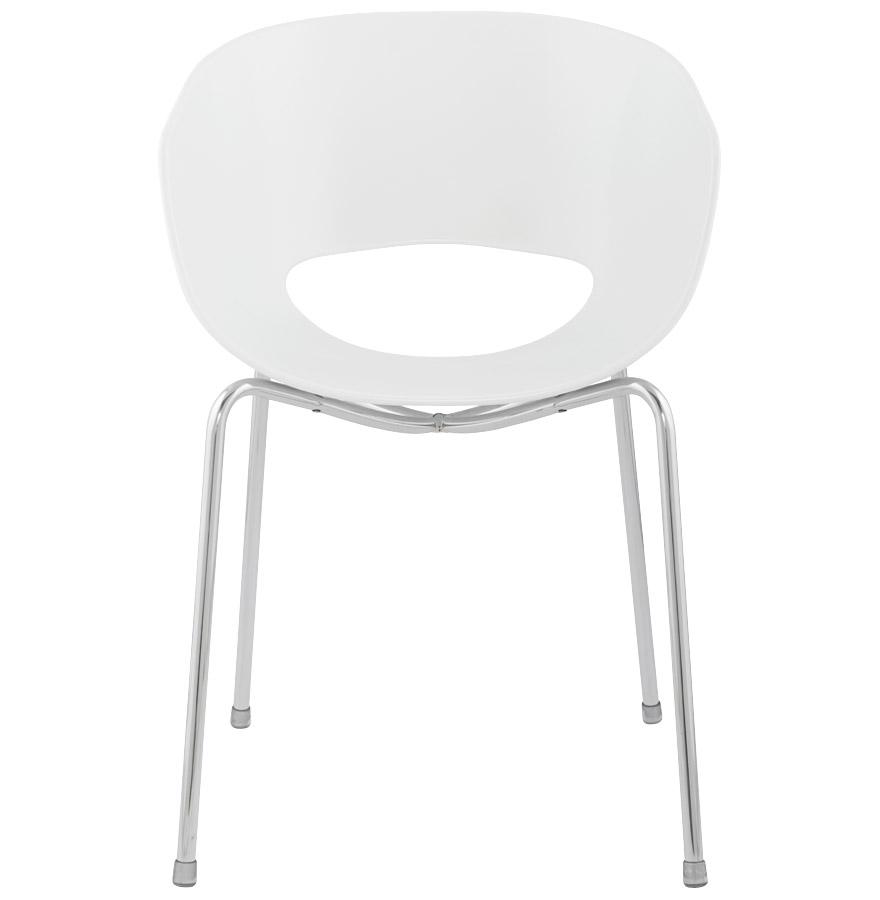 Design stoel ORBIT met witte plastic zitschaal