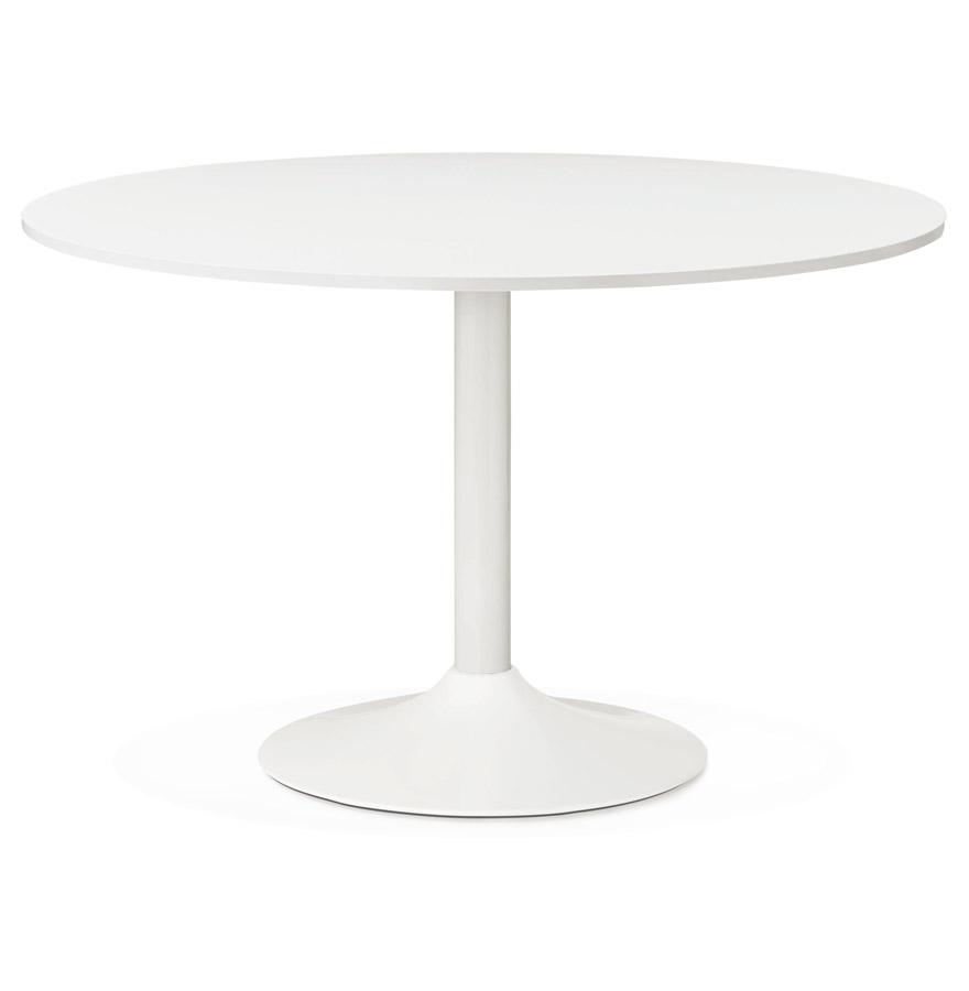 Table de bureau/à diner ronde ´ORLANDO´ blanche - Ø 120 cm