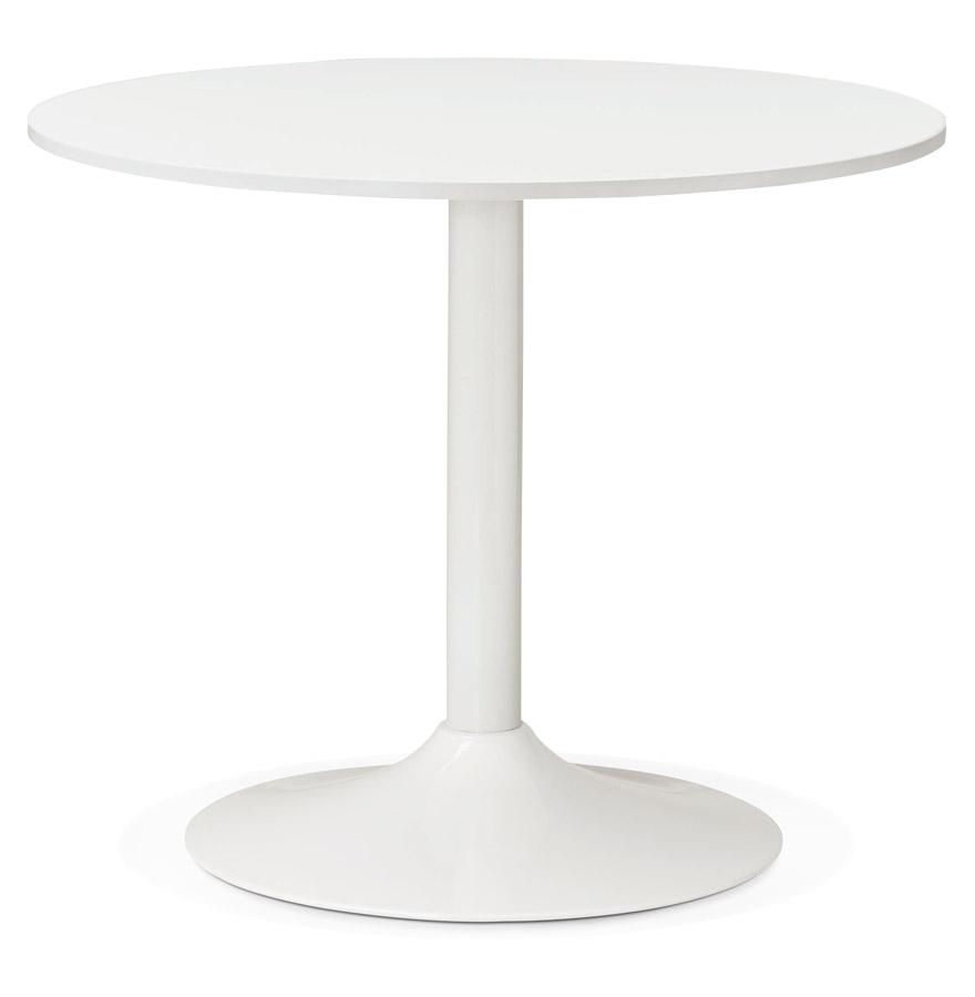 Petite table de bureau/à diner ronde ´ORLANDO´ blanche - Ø 90 cm