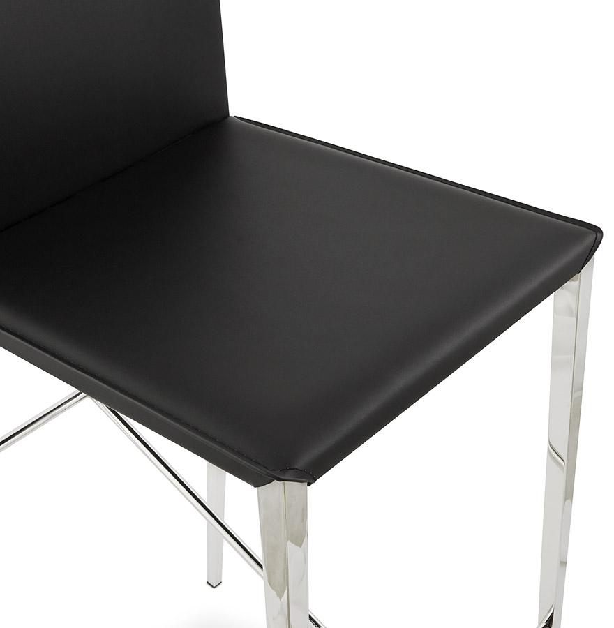 tabouret snack mi hauteur oskar noir. Black Bedroom Furniture Sets. Home Design Ideas
