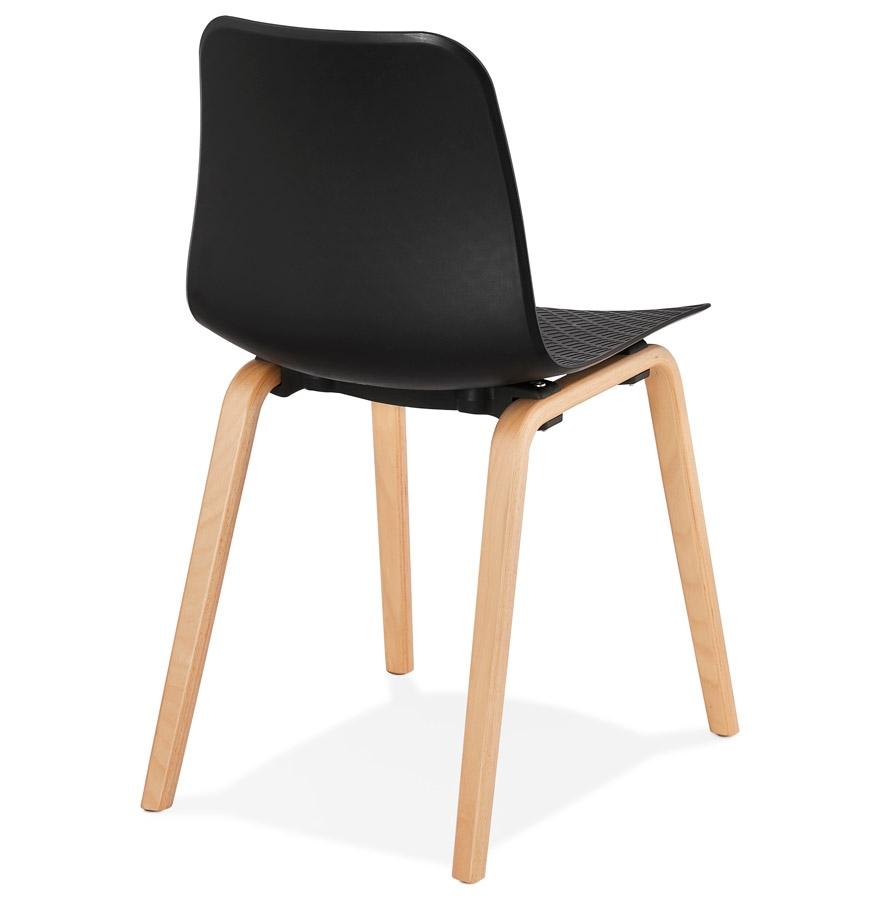 Chaise scandinave pacifik noire chaise design for Chaises scandinaves noires