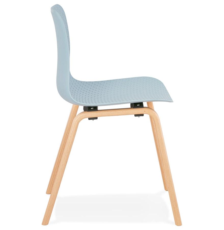 Chaise scandinave ´PACIFIK´ bleue avec pieds en bois finition naturelle