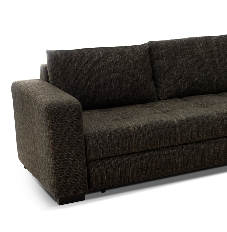 hoekbank met slaapfunctie pampa van bruine stof. Black Bedroom Furniture Sets. Home Design Ideas