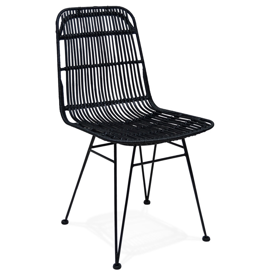 stoel panama in zwart rotan designstoel. Black Bedroom Furniture Sets. Home Design Ideas