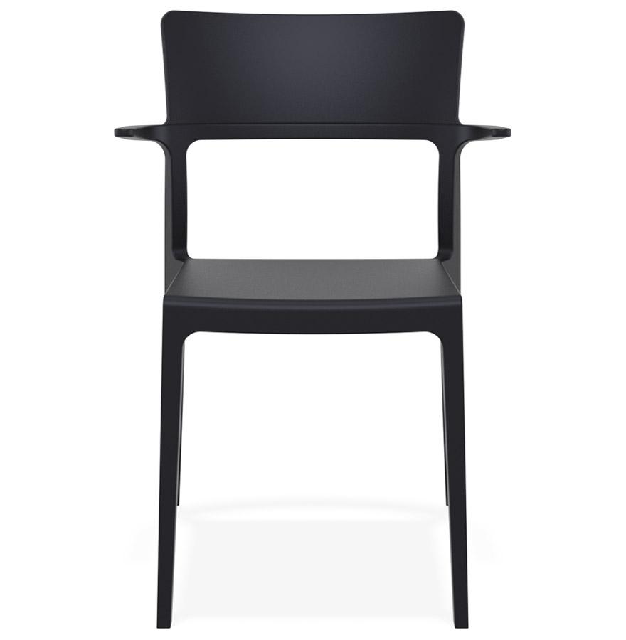Chaise design empilable ´PAPRIKA´ noire intérieur / extérieur
