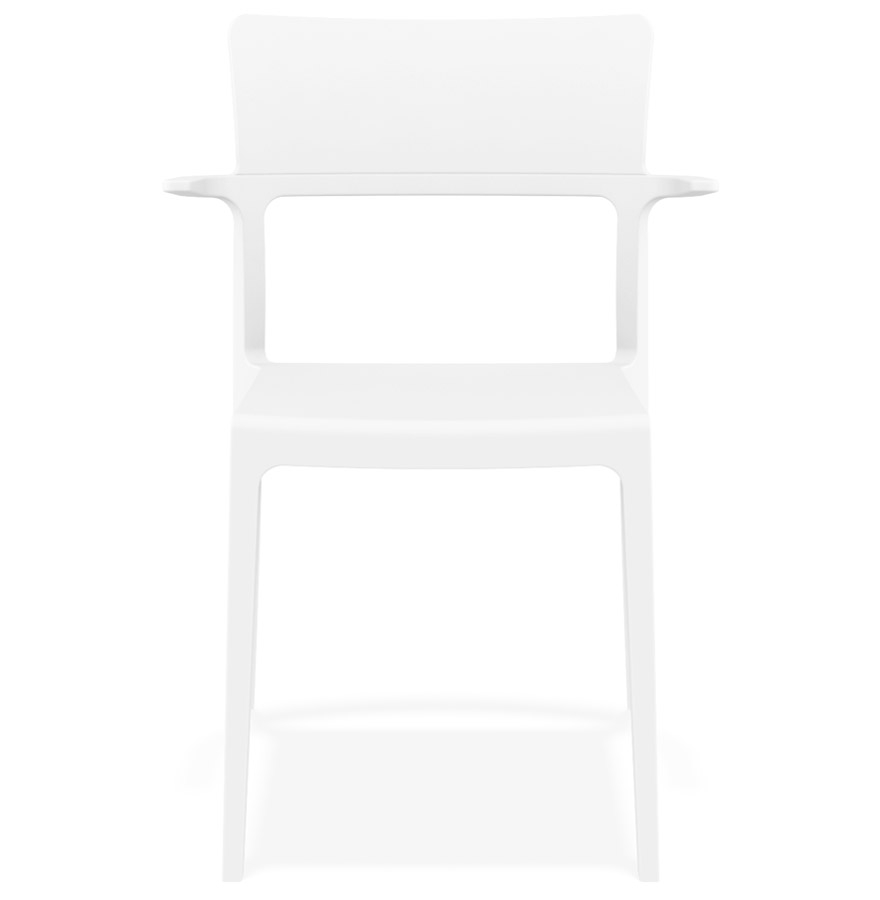 Chaise design empilable ´PAPRIKA´ blanche intérieur / extérieur
