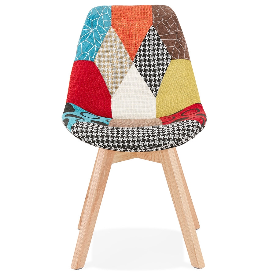 Chaise design ´PATCHY´ en tissu style patchwork