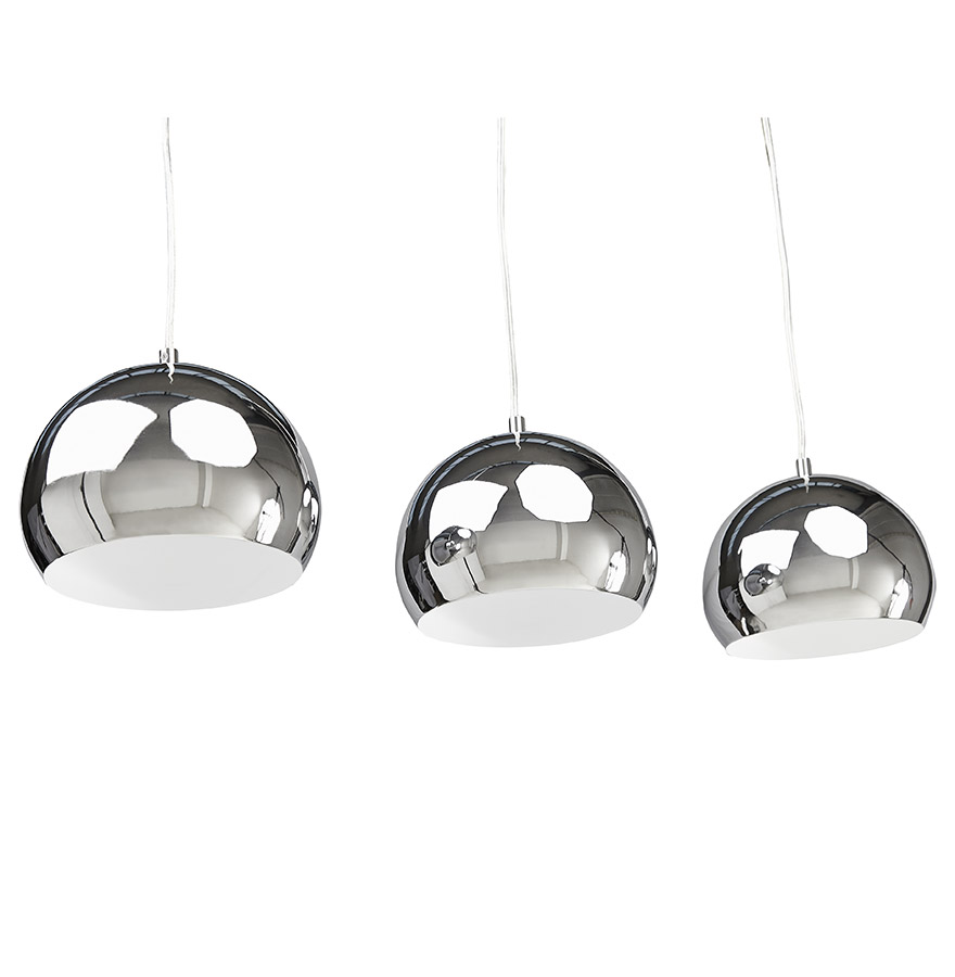 Suspension Triple Boule Pendul Chromees Lustre Design