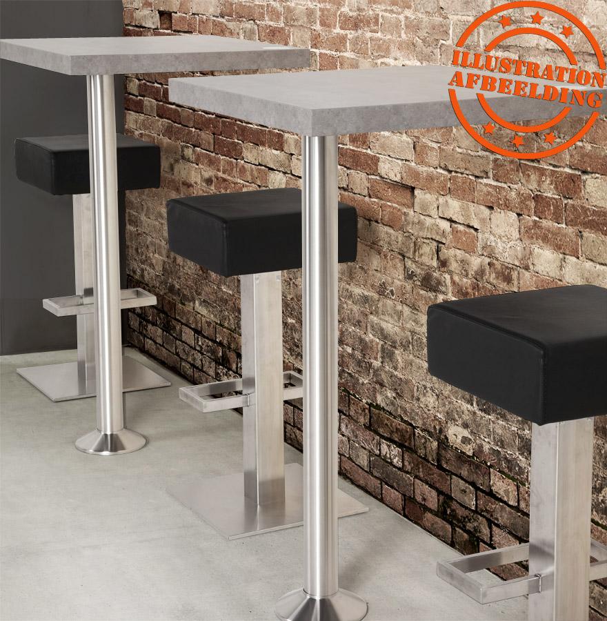 Pied de table piket 110 cm en m tal bross base ronde - Tabouret de bar rond ...