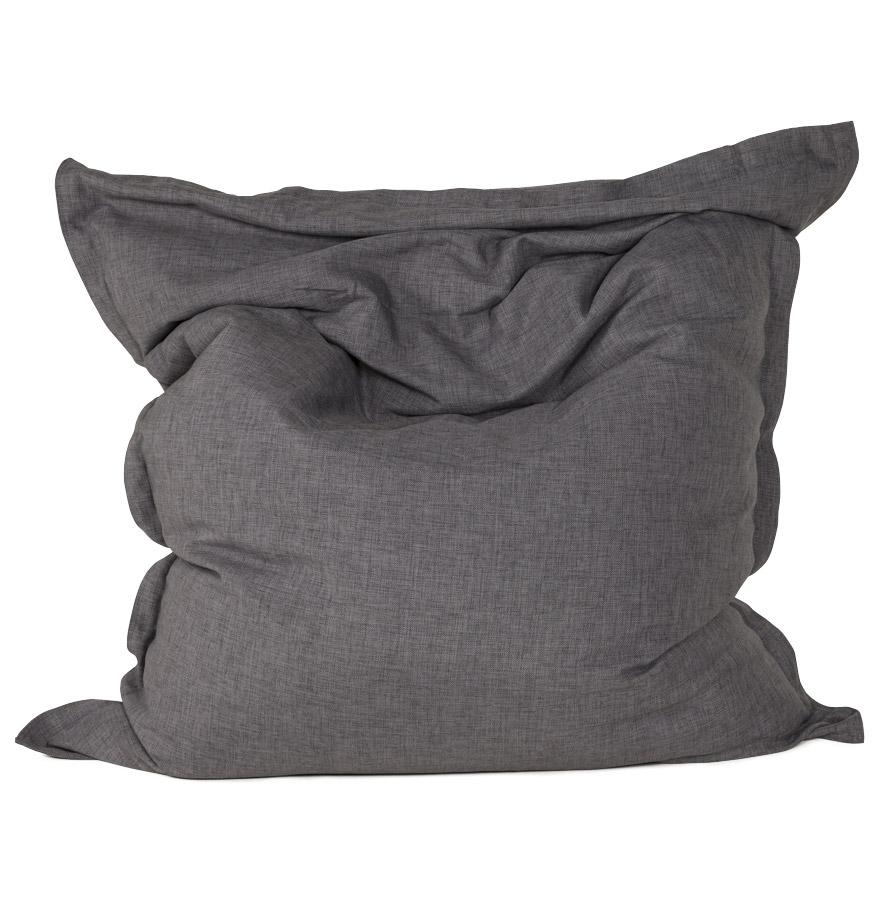 Pouf géant ´ PILO ´ en tissu chenille gris anthracite 135×175 cm
