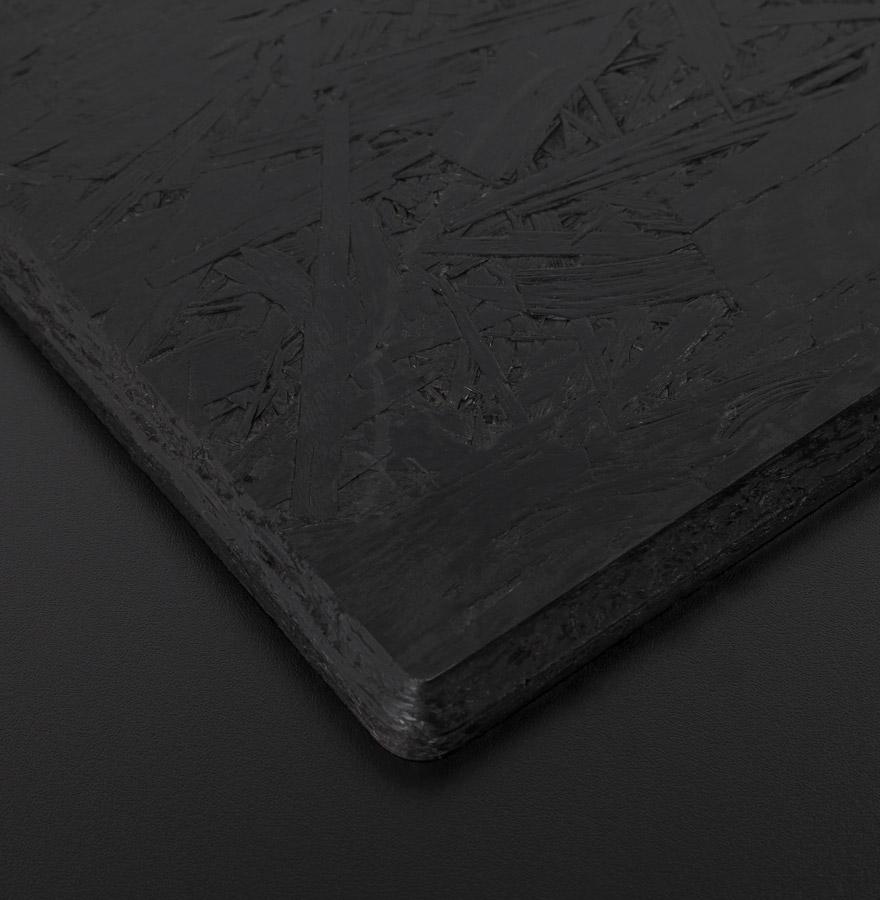 Plateau de table ´PLANO´ carré 68x68cm noir en résine compressée
