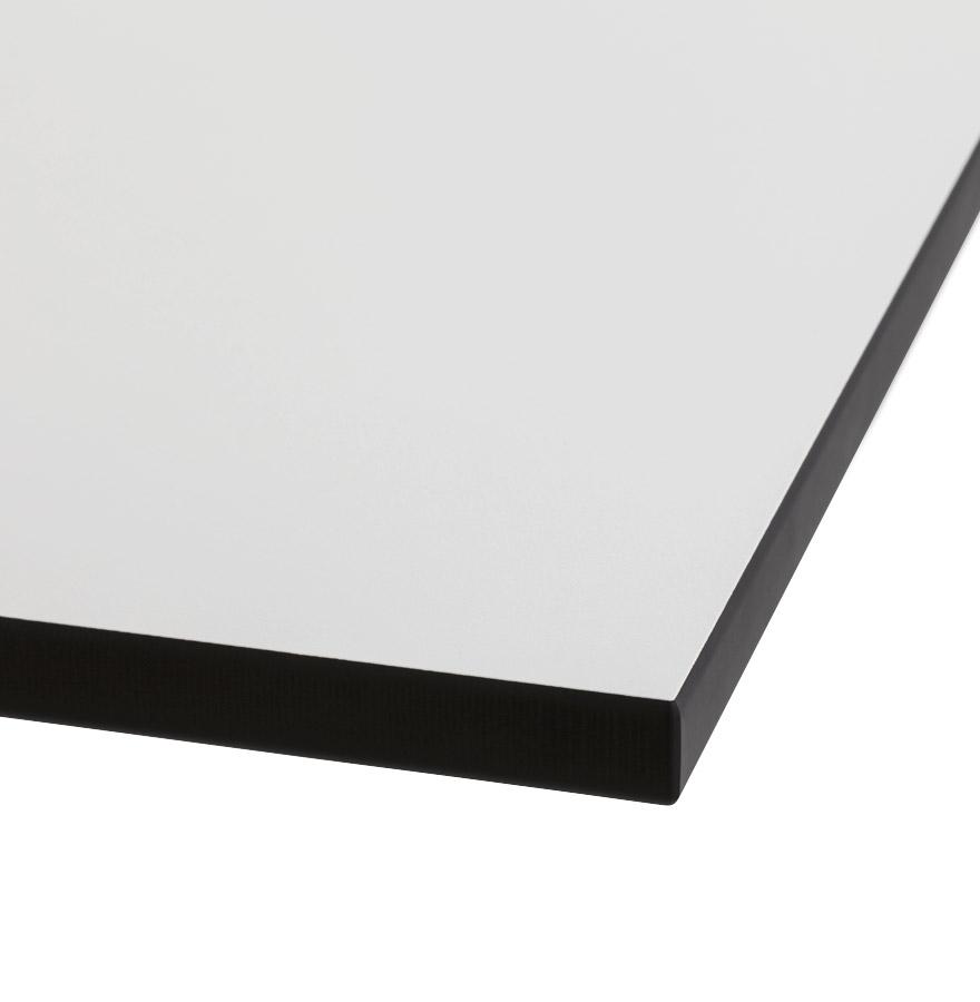 Plateau de table ´PLANO´ carré 68x68cm blanc en résine compressée