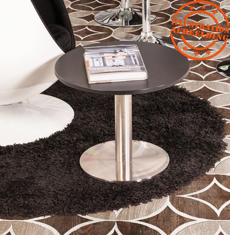 pied de table plato 45 acier bross base ronde alterego design. Black Bedroom Furniture Sets. Home Design Ideas