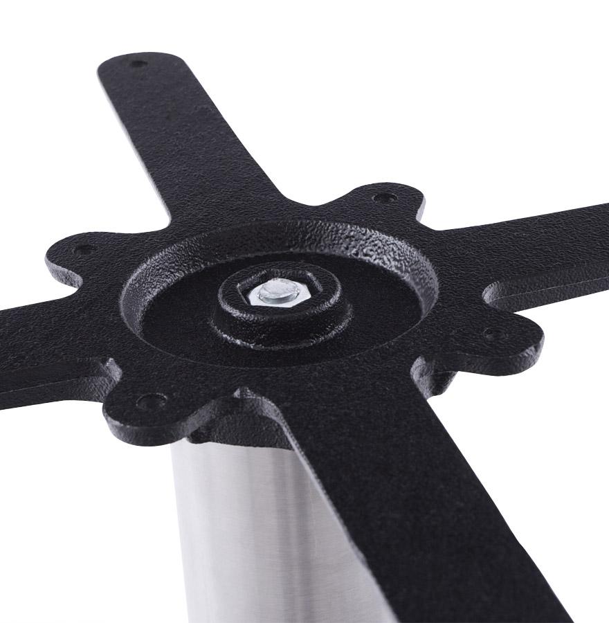 Pied de table ´PLATO´ 45 en acier brossé avec base ronde