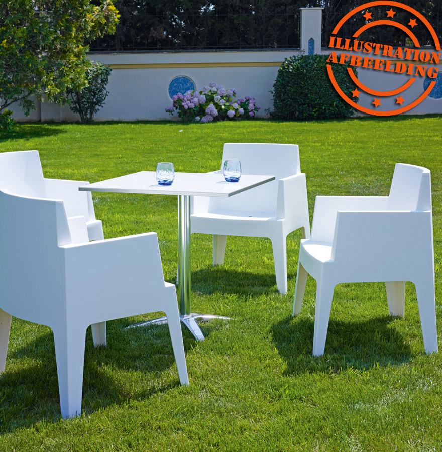 chaise design plemo blanche en mati re plastique. Black Bedroom Furniture Sets. Home Design Ideas