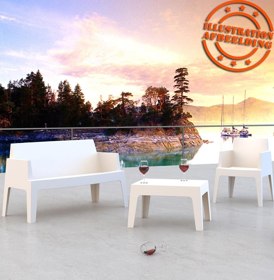 Chaise Design PLEMO XL - Banc De Jardin Noir En Matiu00e8re Plastique