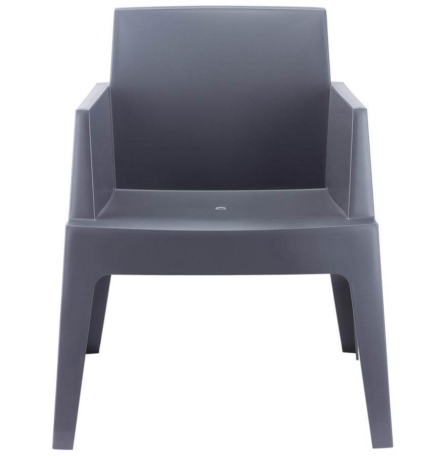 Chaise design ´PLEMO´ grise foncée en matière plastique