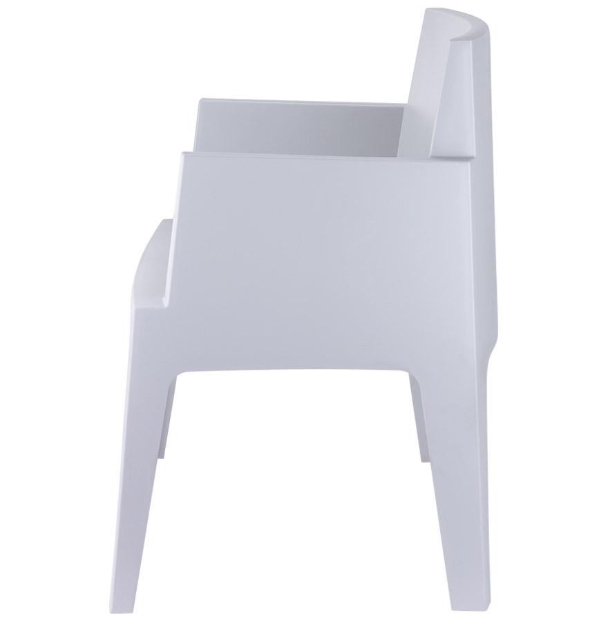 Chaise design ´PLEMO´ grise claire en matière plastique