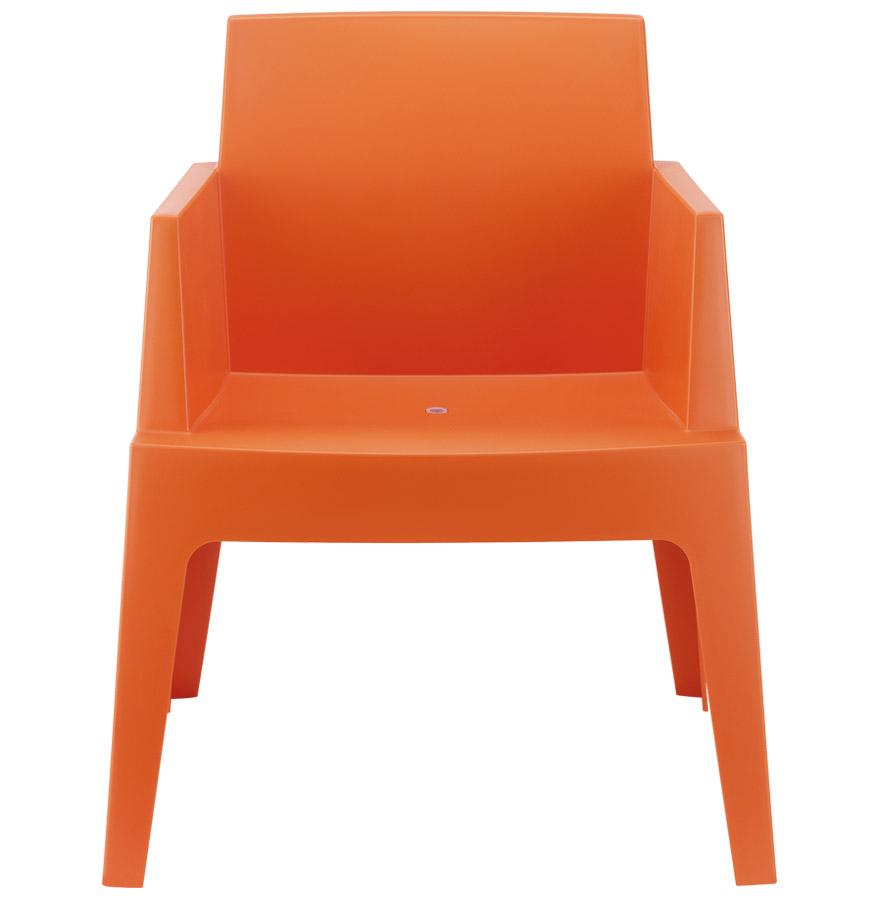 Chaise design ´PLEMO´ orange en matière plastique