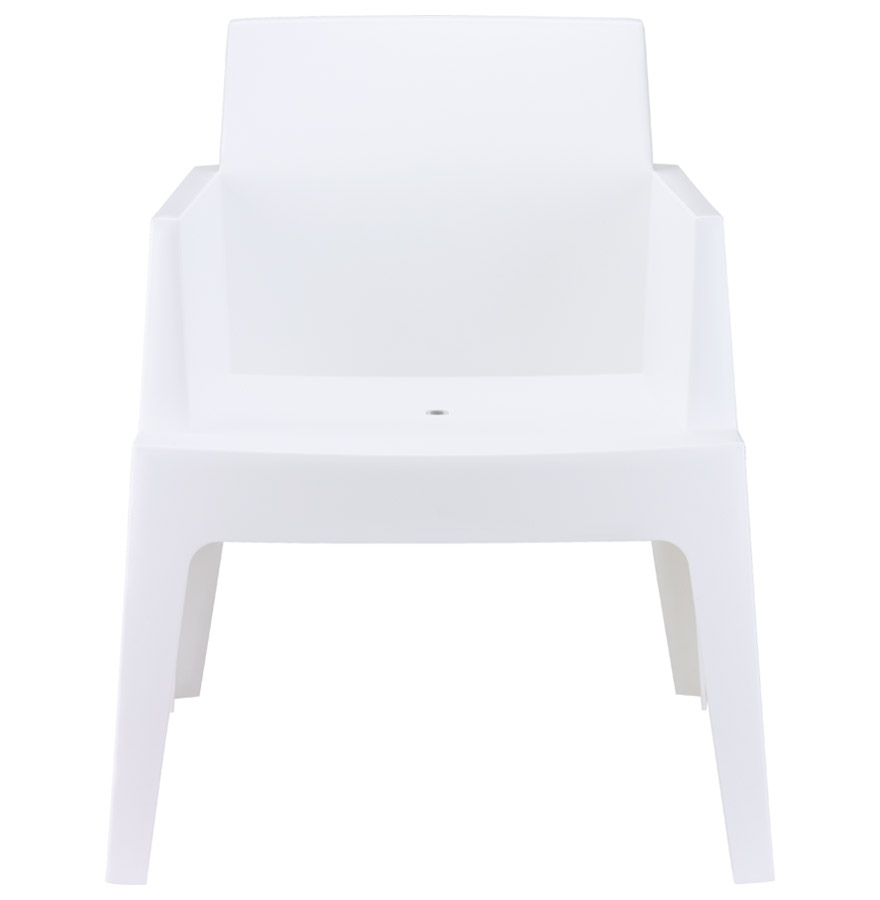 plemo white newsite 02 - Chaise design ´PLEMO´ blanche en matière plastique