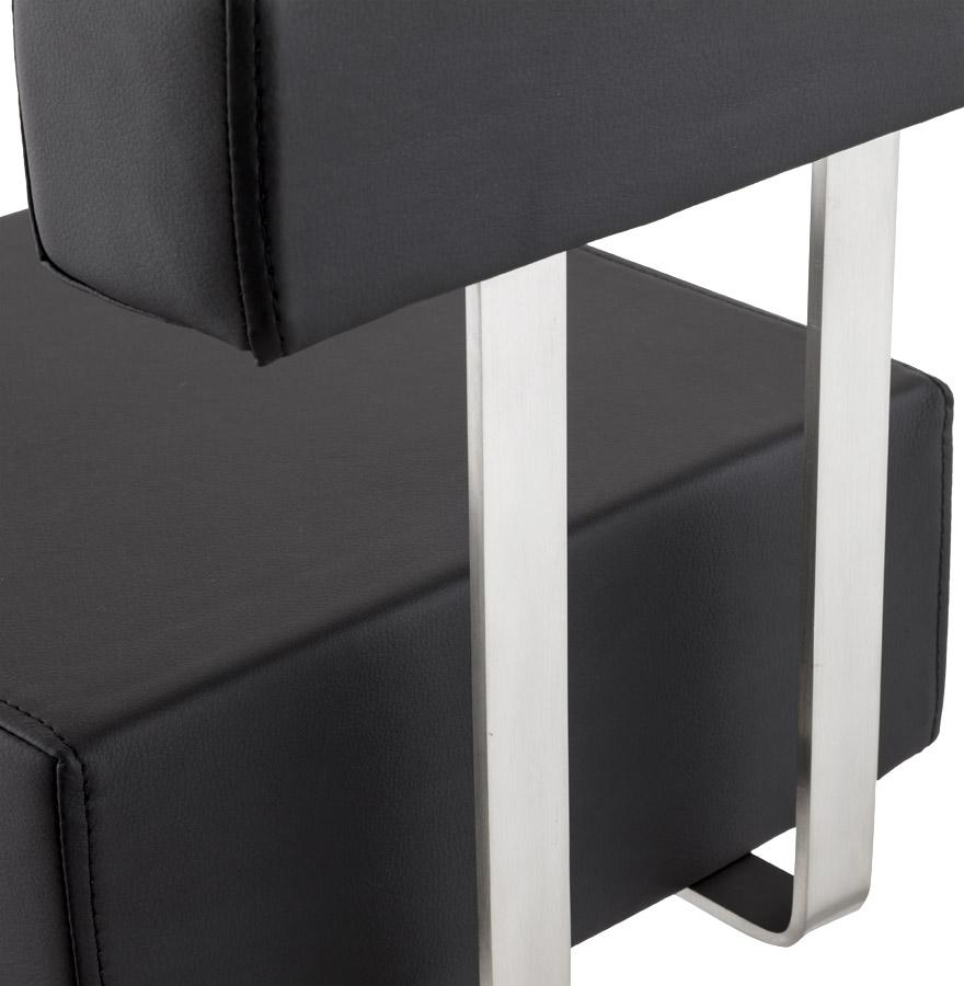 halfhoge design kruk pluba uit zwart imitatieleder. Black Bedroom Furniture Sets. Home Design Ideas