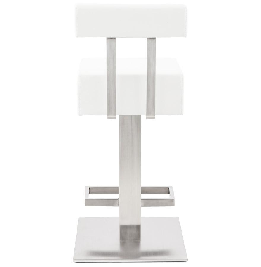 Tabouret snack mi-hauteur ´PLUBA´ en matière synthétique blanche ... 5178e0990142