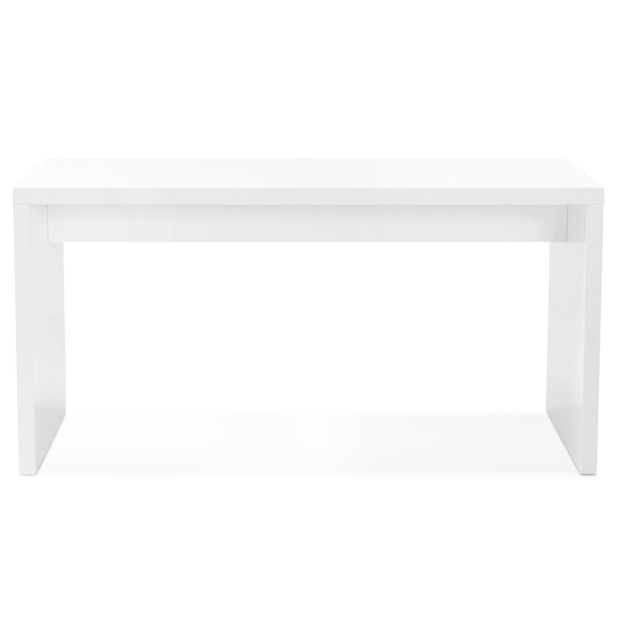 polar white 02 - Bureau droit design ´POLAR´ en bois peint blanc - 150x70 cm
