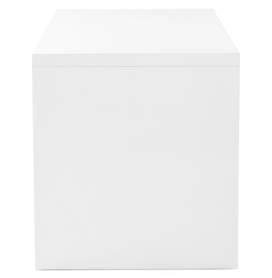 polar white 03 - Bureau droit design ´POLAR´ en bois peint blanc - 150x70 cm