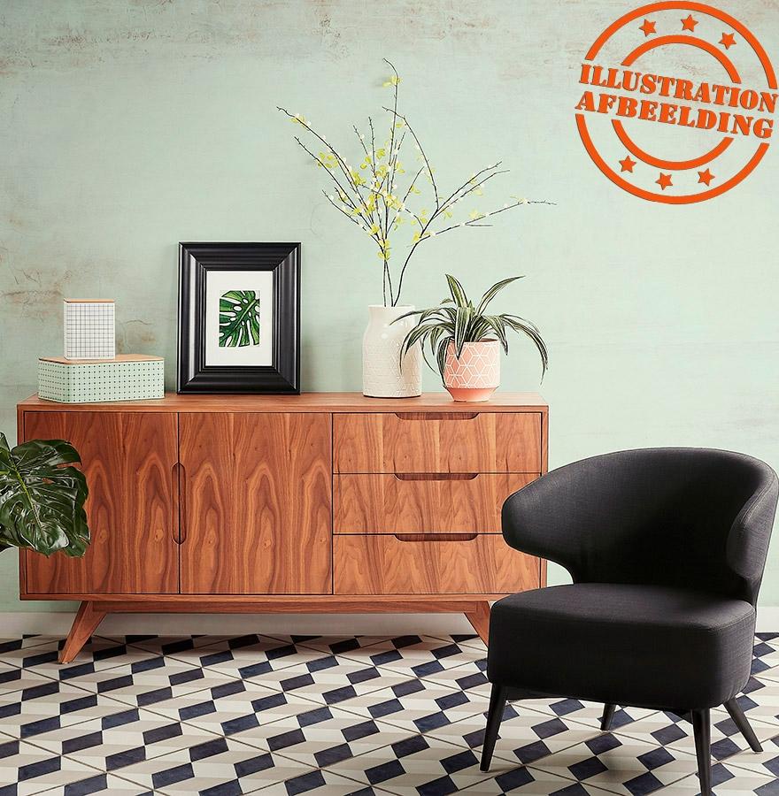 design buffetkast portobello zwart opbergmeubel. Black Bedroom Furniture Sets. Home Design Ideas