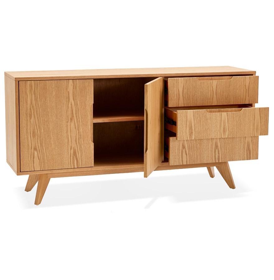 Bahut design ´PORTOBELLO´ en bois finition naturelle