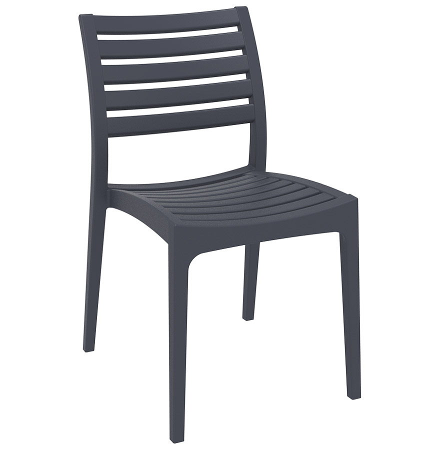 chaise de terrasse moderne primo grise fonc e chaise design. Black Bedroom Furniture Sets. Home Design Ideas