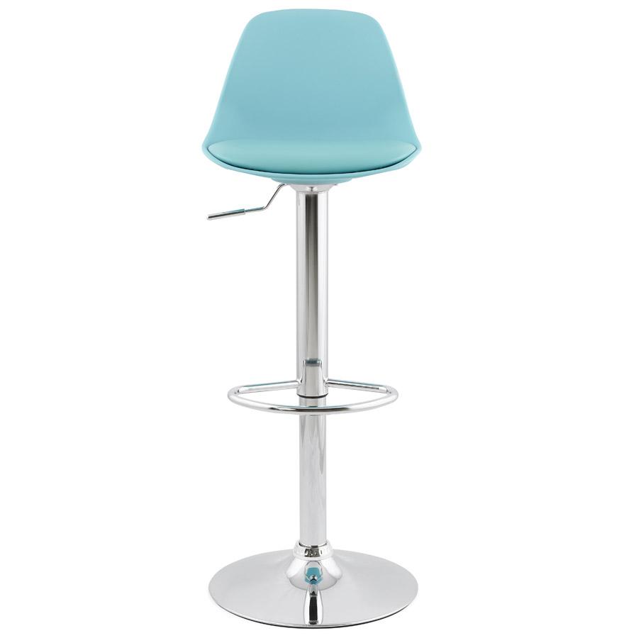 Tabouret réglable ´PRINCES´ bleu avec haut dossier confortable