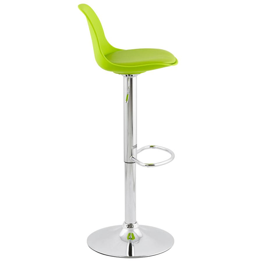 Tabouret réglable ´PRINCES´ vert avec haut dossier confortable