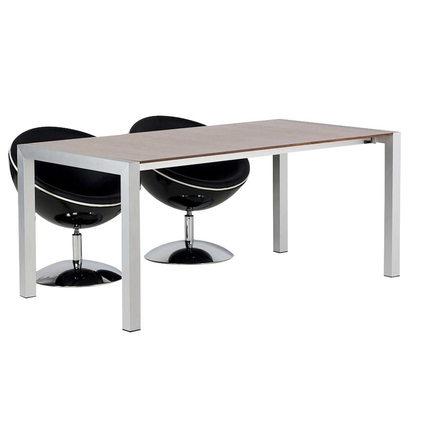 table d ner extensible pure finition noyer 170 260 x90 cm. Black Bedroom Furniture Sets. Home Design Ideas