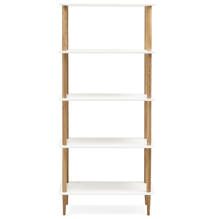 rack white h2 02 - Étagère design ´RACK´ blanche en bois style scandinave