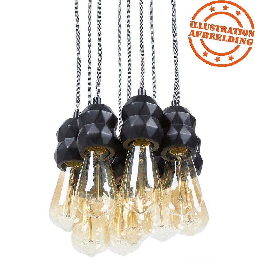 hanglamp in de vorm van een spin rainy met 9 gloeilamp. Black Bedroom Furniture Sets. Home Design Ideas
