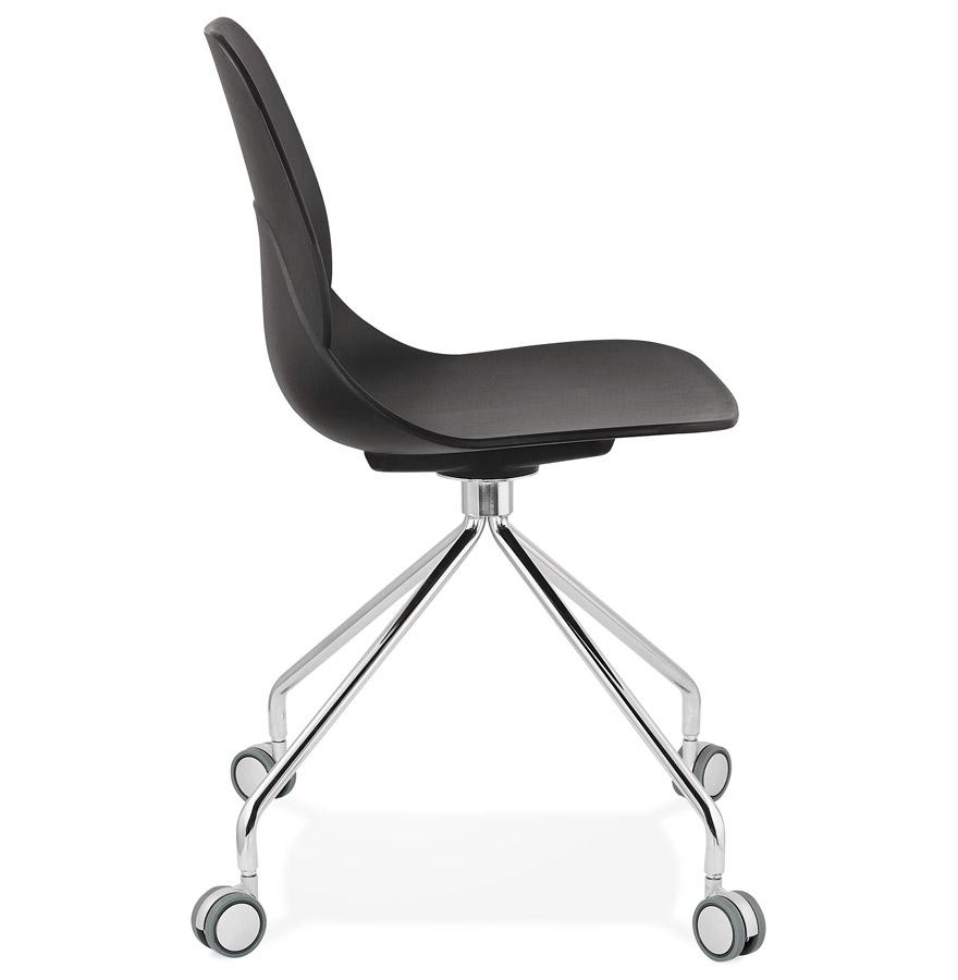 Chaise de bureau moderne ´RALLY´ noire sur roulettes