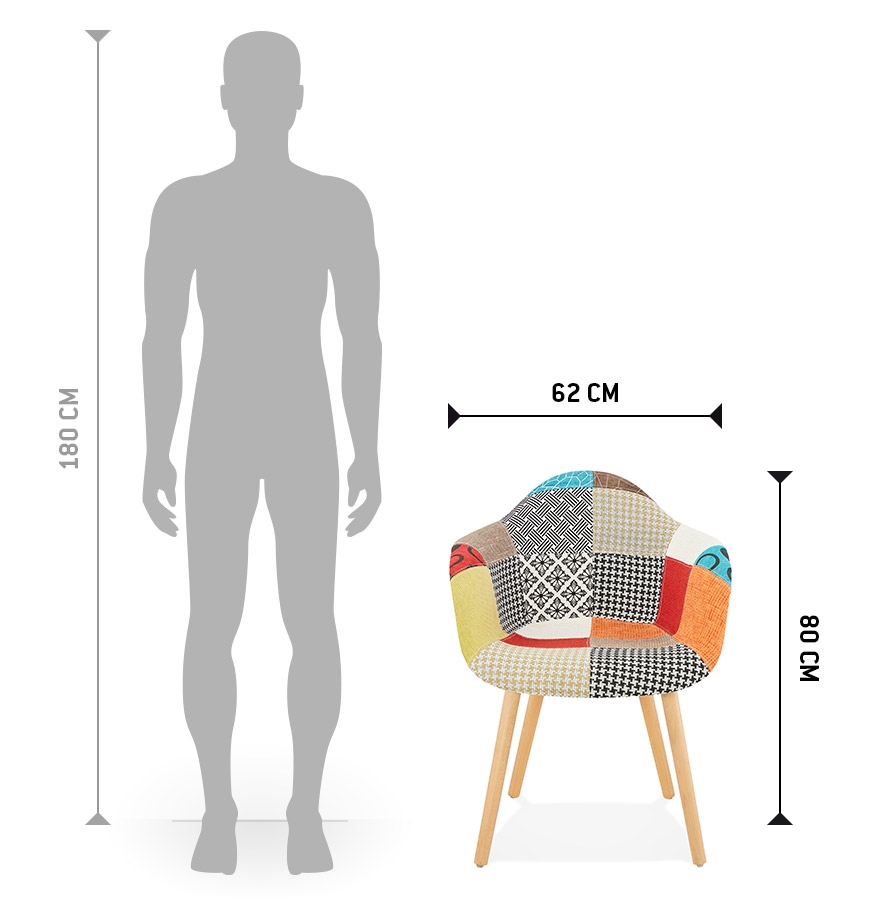 chaise avec accoudoirs rambla style patchwork chaise design. Black Bedroom Furniture Sets. Home Design Ideas