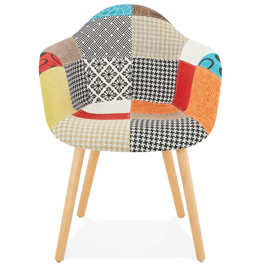 Chaise design avec accoudoirs ´RAMBLA´ style patchwork