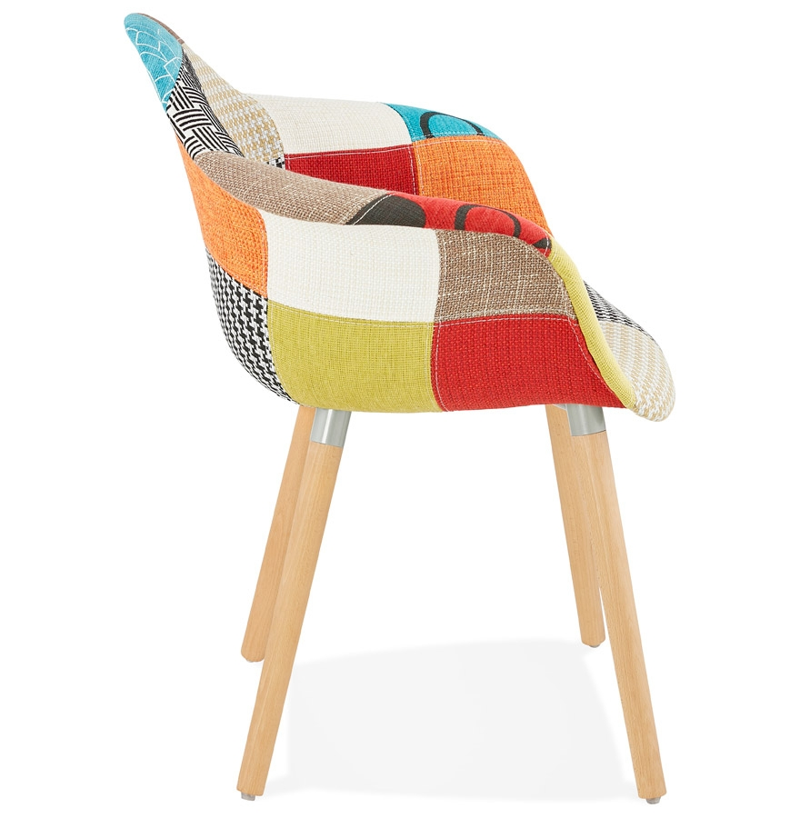 Chaise Design Avec Accoudoirs Rambla Style Patchwork Addesign